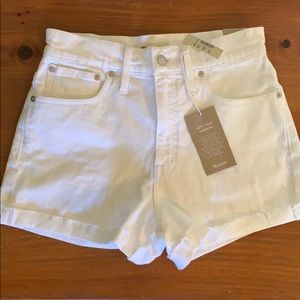 NEW Madewell Sz 27 High-Rise White Denim Shorts